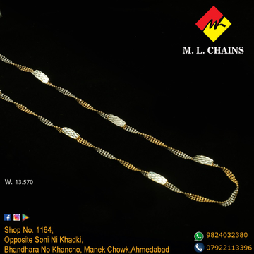 916 Gold Stylish Chain ML-C18