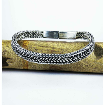 Fancy 925 Silver Gents Bracelet