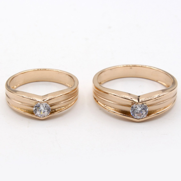 22KT Gold Single Stone Couple Ring KV-R001