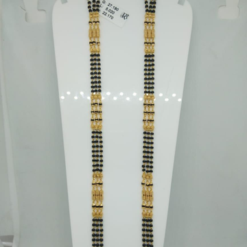 22k 3 Line Pipe Mangalsutra Sher PMS914
