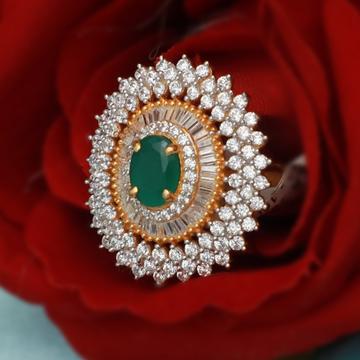 916 Gold CZ Designer Ring For Wedding PJ-R017