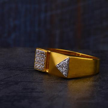 22KT Gold Cz Hallmark Mens Ring MR531