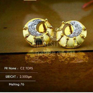 18kt Amezing Fancy Cz Gold Ladies Tops ATG -0171