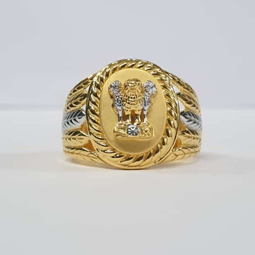 22Kt Gold Fancy Rodiyam Ashok Stambh Ring for Men