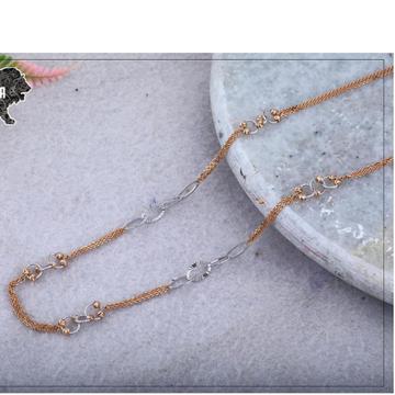18kt RoseGold Dokiya  Rodium Chain RH-RGC26
