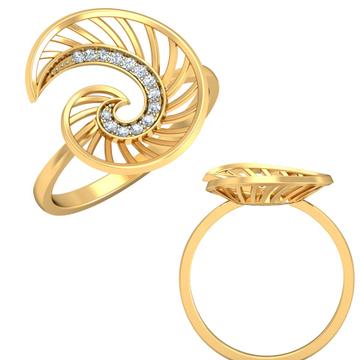 22Kt Yellow Gold Enlightening Ring For Women