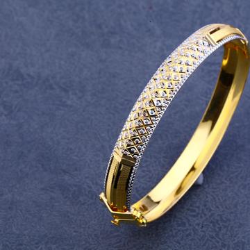 916 Gold Cz Designer Lock Kada MPLKB19