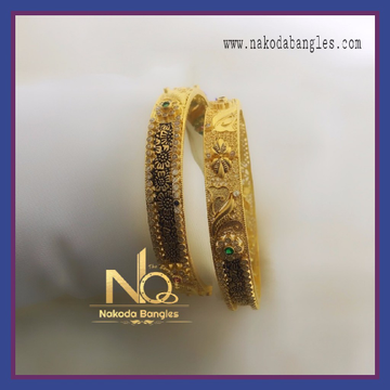 916 Gold Chakari Bangles NB-079