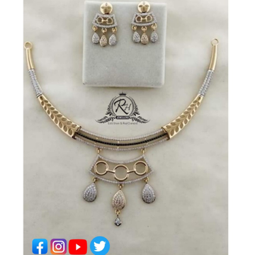 22 carat gold ladies necklace set RH-NC374