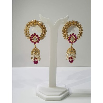 18k Gold fancy erings with moti and ruby by