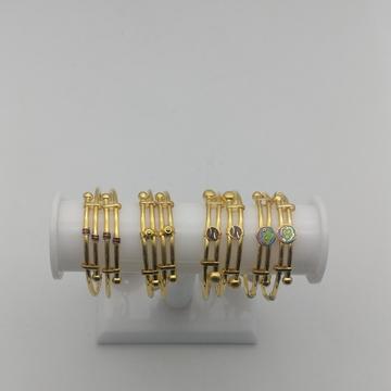 916 light weight copper bangla kadli by Saideep Jewels