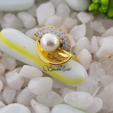 Real Pearl Ladies Ring by Shubh Gold