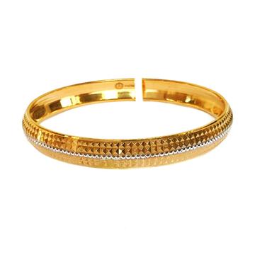 One gram gold forming kada bracelet mga - bre0090