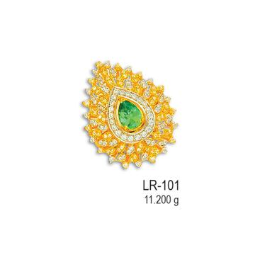 CZ-Gold-Ladies-Ring-LR-101