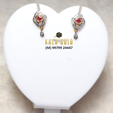 916 Red Stone CZ Earring