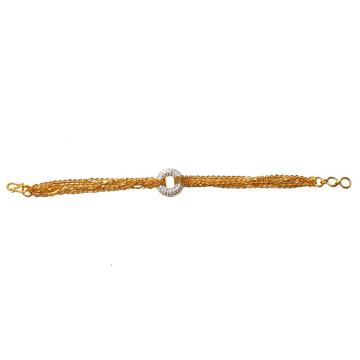 22K Gold CZ Diamond Designer Bracelet MGA - GB006