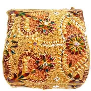 22k Gold Meenakari Flower Shape Baloya Bangles MGA - GP057