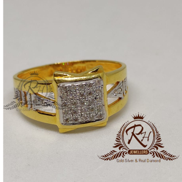 22 carat gold stylish dimond gents rings RH-GR902