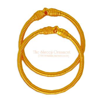 916 Gold Simple Variya Copper Kadali - 005