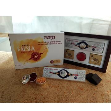 Silver 999 Rakhi With 2 Cholacate  Kit