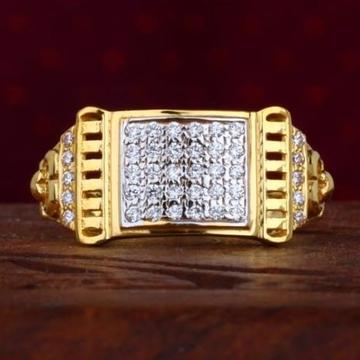 916 Gold Diamond Gents Ring