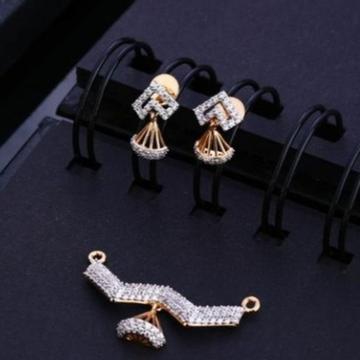 18 carat rose gold fancy ladies pendants set RH-PS454