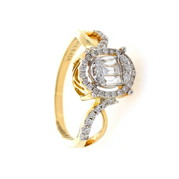 18kt / 750 Yellow Gold Classic Diamond Ladies Ring 9LR310