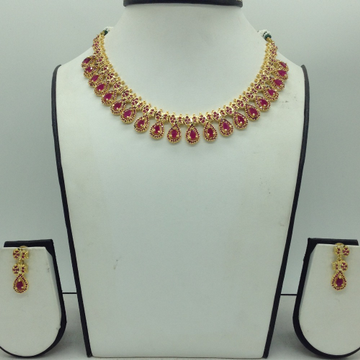 RedCZ Stones Necklace Set JNC0176