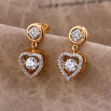 18 carat rose gold ladies earrings RH-LE671