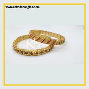 916 Gold Chakri Bangles NB - 858