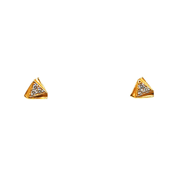 22K Gold Triangle Shaped Fancy Earrings MGA - BTG0377
