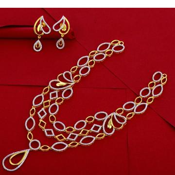 916 Gold Ladies Classic Necklace Set LN254