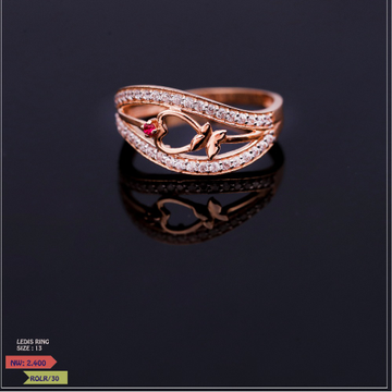 ROSE GOLD CZ RING LADIES
