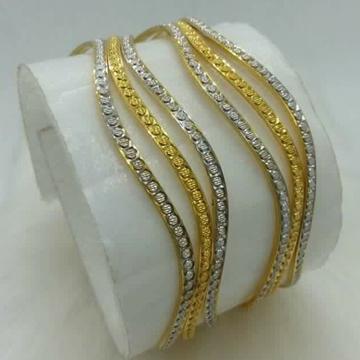 916 GOLD YELLOW & WEIGHT CNC BANGLES BL0005