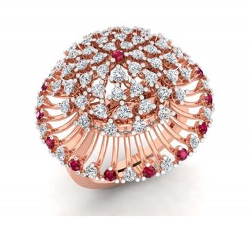 18k rose gold plated cz diamond ring pj-r001