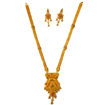One gram gold forming necklace set mga - gfn0024