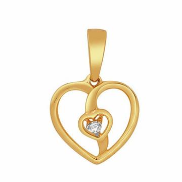 18k gold real diamond pendant mga - rp0029