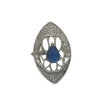 925 Sterling Silver Blue Stone Ring MGA - LRS0093
