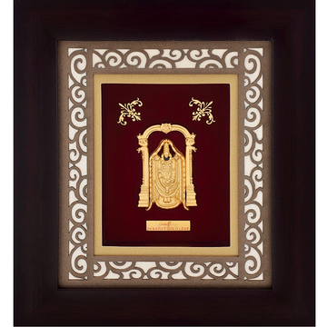 916 Gold Tirupati Balaji Photo Frame AJ-21