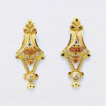 22KT Gold Hallmarked Latkan Earring SK-E029