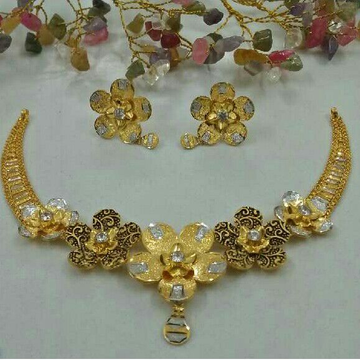 22KT Gold Stylish Arabian Necklace Set