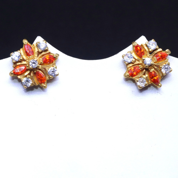 20CT Orange & white Color Stone Colorful Earring for Women BTG0076