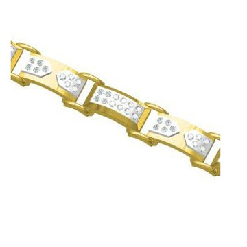 916 cz diamond gold bracelet