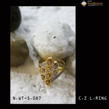 22ct(916)cz l.ring by