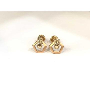 18k Ladies Fancy Rose Gold Earring E-60501