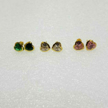 22KT Heart Shaped Gold Uchak Butti