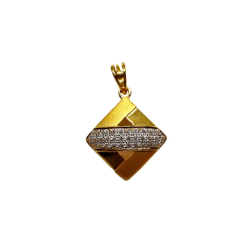22K Gold Square Shaped Fancy Gents Pendant MGA - P...