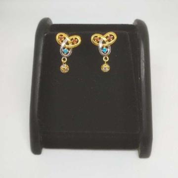 22 K Gold Fancy Earring. NJ-E0936