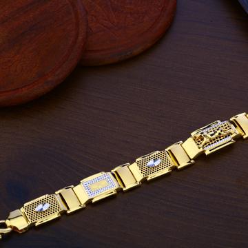 Mens Gold Bracelet-MPB110