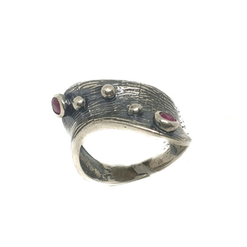 925 Sterling Silver Oxidized Ring MGA - LRS0866